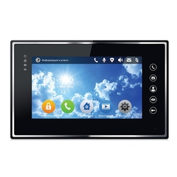 BAS-IP AR-07 B L v3 - Монитор для домофонной IP-системы, Touch Screen 7