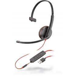 Plantronics Blackwire C3215-A [209746-22] - Гарнитура для компьютера USB-A, UC